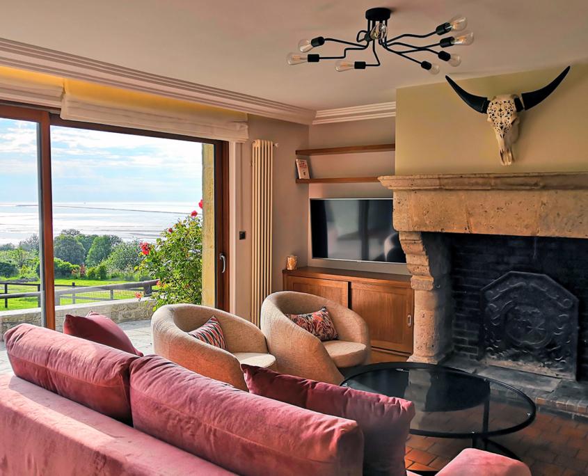 Living Room Les Hauts du Clos - Domaine du Clos Fleuri