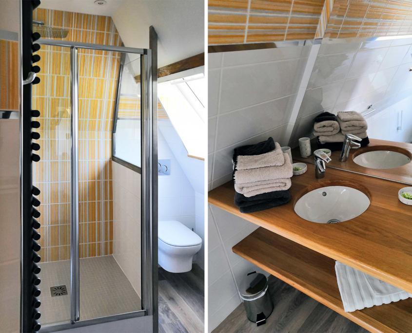 Salle de bain des Hauts du Clos - Domaine du Clos Fleuri